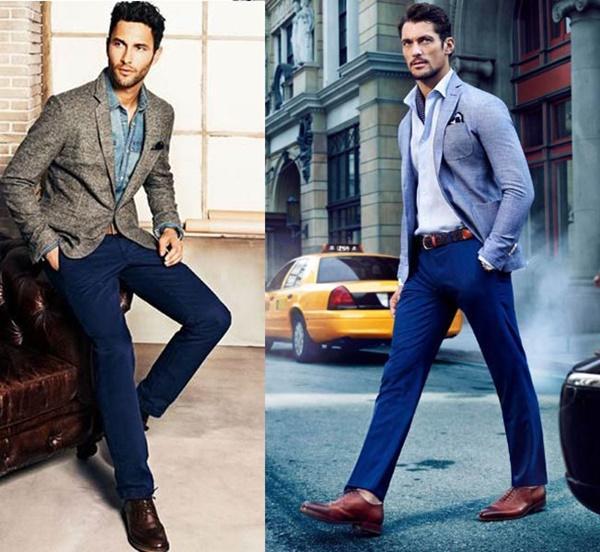 Quy tắc chọn màu trang phục kết hợp với giày âu nam màu nâu