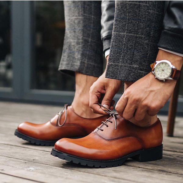 Diện giày âu nam màu nâu vào dịp nào phù hợp?