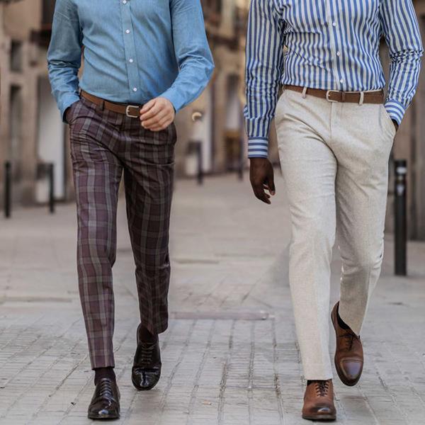 Phối giày Oxford cùng quần vải