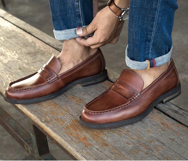Giày lười da nam công sở: Tiện lợi, linh hoạt