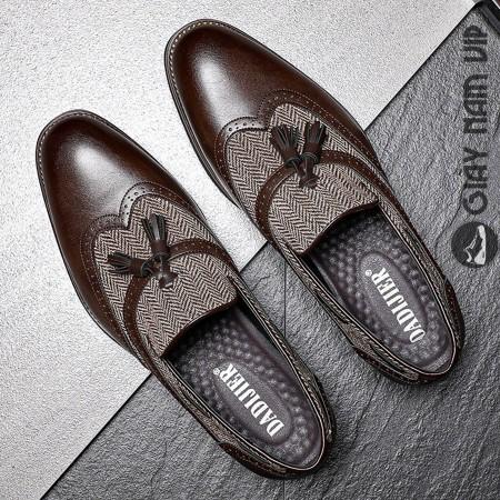 Giày lười nam tassel loafer Hàn Quốc sang chảnh sành điệu