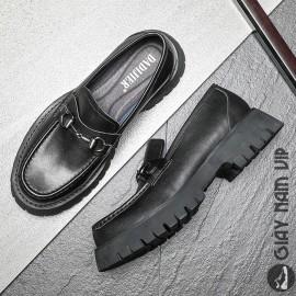 Giày lười nam horsebit loafer đế cao độc đáo cá tính