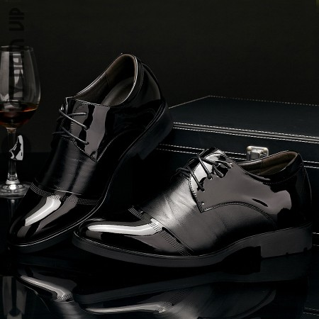 Giày tây nam tăng chiều cao đen bóng lịch lãm đẳng cấp