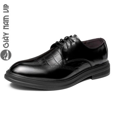Giày da nam cao cấp nhập khẩu lịch lãm men lỳ