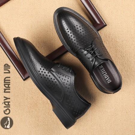 Giày nam đẹp mùa hè cao cấp đục lỗ thoáng khí