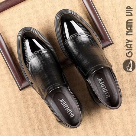 Giày lười công sở nam đẹp đen bóng thanh lịch