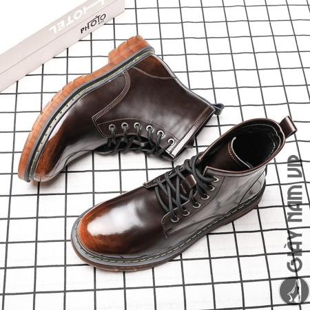 Giày boot nam cao cổ da bò cool ngầu chất chơi