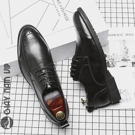 Giày da bò nam đẹp phong cách Âu Mỹ mềm mại thanh lịch