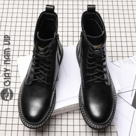 Giày boot nam da bò cao cổ khỏe khoắn cá tính