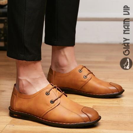 Giày da thể thao nam phong cách đường phố
